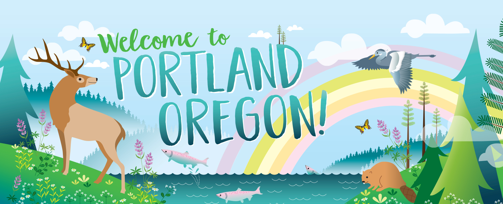 WELCOME TO PORTLAND OREGON, AMY RUPPEL, SOUTH PASSENGER ARRIVALS