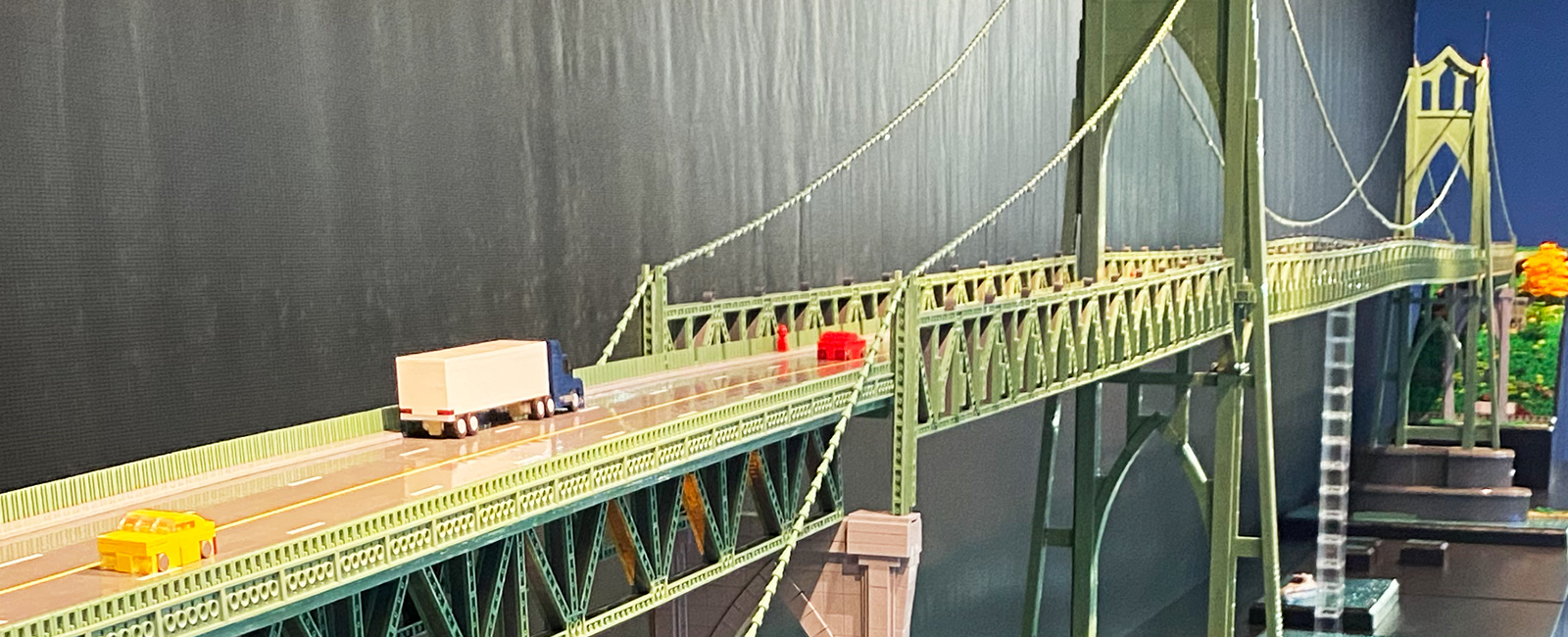 LEGO ST. JOHNS BRIDGE, ERIK MATTSON, CONCOURSE DE DISPLAY CASE